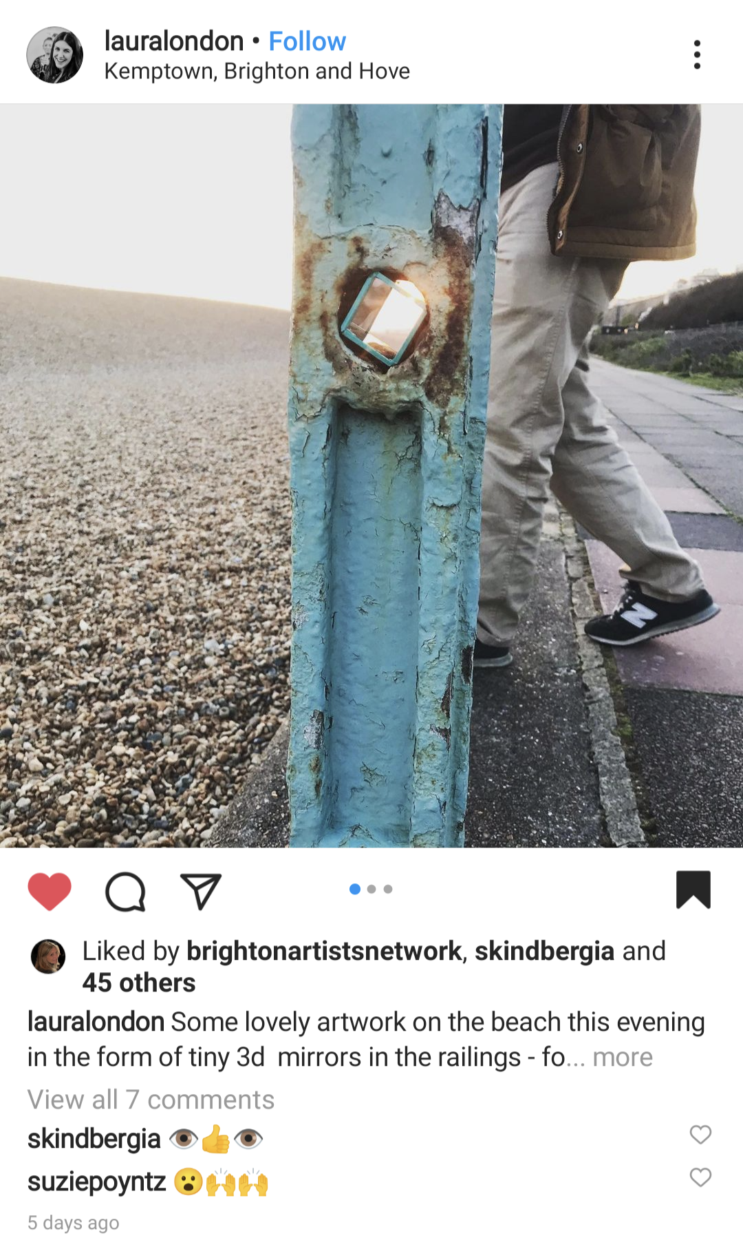 Screenshots from Instagram of people interacting with Peeping